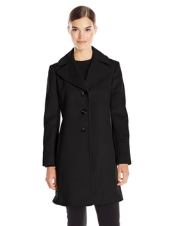 Larry Levine - Notch Collar Wool Coat