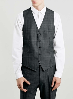 Topman - Check Suit Vest