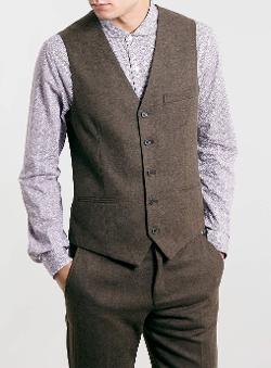 Topman - Flannel Suit Vest