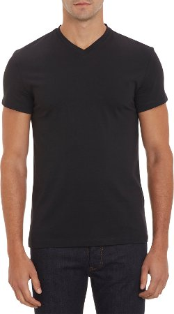 Reed Edward  - Jersey T-Shirt - V-Neck, Short Sleeve