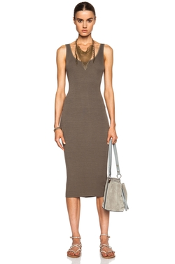 Enza Costa - Viscose-Blend Rib Tank Dress