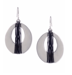 Kenneth Cole New York  - Two-Tone Oval Drop Earrings