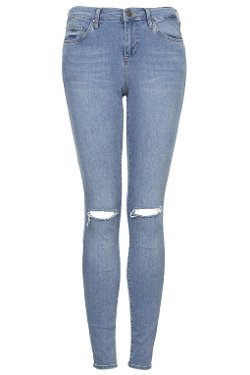 Topshop - Moto Salt And Pepper Leigh Jeans