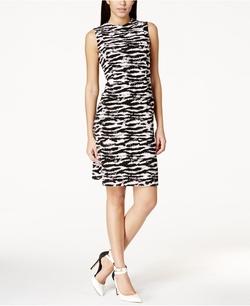 Nine West - Zebra-Print Shift Dress
