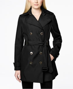 Calvin Klein - Double-Breasted Belted Trench Coat