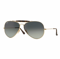 Ray-Ban - Gradient Metal Aviator Sunglasses