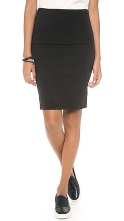 Splendid - Fold Over Pencil Skirt