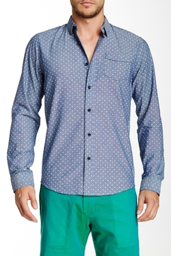 Descendant Of Thieves - Printed Oxford Long Sleeve Slim Fit Shirt