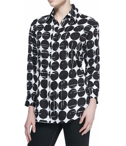 Finley - Poplin Polka-Dot Print Dress Shirt