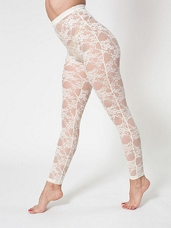 American Apparel - Nylon Spandex Stretch Lace Leggings