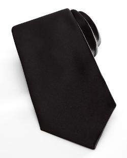 Neiman Marcus   - Satin Formal Tie, Black