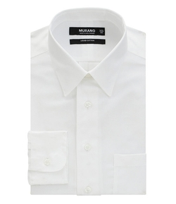 Murano - Solid Point-Collar Liquid Cotton Dress Shirt