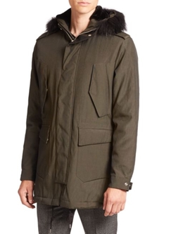 The Kooples  - Fox Fur-Trimmed Parka Jacket