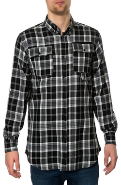 Unyforme - The West Woven Ls Buttondown Shirt In Black