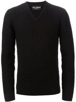 Dolce & Gabbana  - Check Knit Jumper