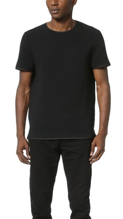 T by Alexander Wang  - Ottoman Cotton Fitted Crew Shirt