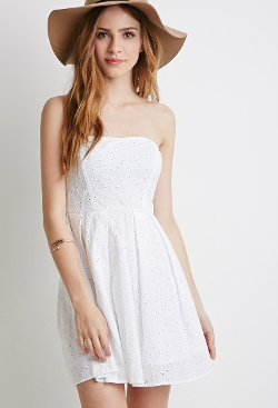 Forever 21 - Embroidered Sweetheart Dress