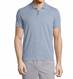 Vince  - Short-Sleeve Knit Polo Shirt