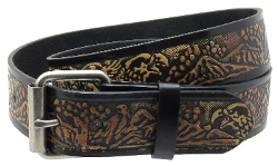 BC Belts - Embossed Leather Belt