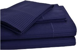 Elite Home Products  - Renaissance Woven Stripe Sheet Set