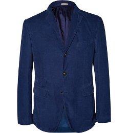 Massimo Alba   - Slim-Fit Garment-Dyed Corduroy Blazer