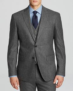 John Varvatos  - Luxe September Solid Flannel Sport Coat