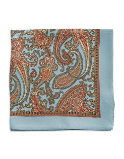 Black Brown 1826 - Paisley Pocket Square