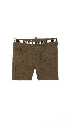 DSQUARED2 - Cotton Shorts with Zebra Haircalf