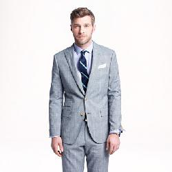 J.Crew - LUDLOW SUIT JACKET IN GLEN PLAID ITALIAN COTTON-LINEN