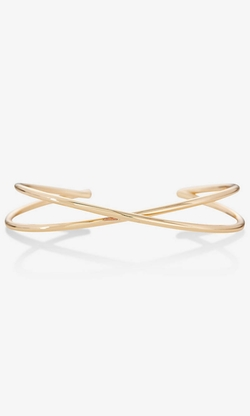 Express - Cut-Out Pave Open Bangle