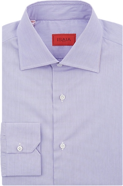 Isaia  - Hairline-stripe Dress Shirt
