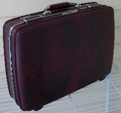 Appleblossom Antiques - Vintage American Tourister Suitcase Burgundy