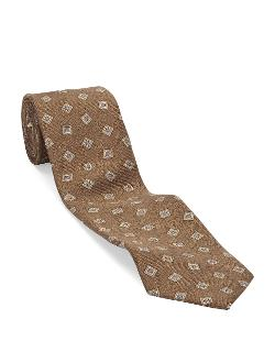 BLACK BROWN  - 1826 Classic Fit Diamond Neat Tie