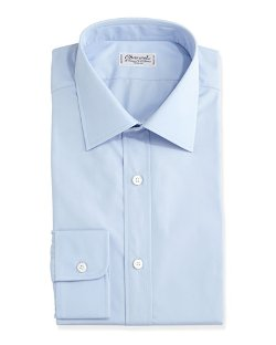 Charvet  - Solid Poplin Dress Shirt
