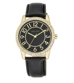 Nine West - Analise Leather Strap Watch