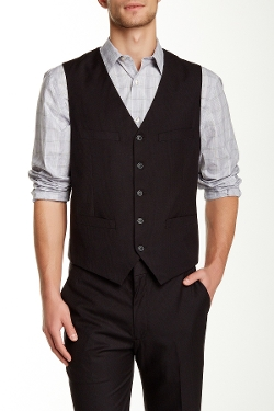 Perry Ellis - Tonal Plaid Vest