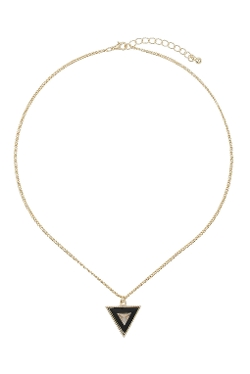 Topshop - Two Tone Triangle Pendant Necklace