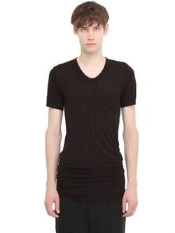 Rick Owens - Viscose & Silk Blend T-Shirt