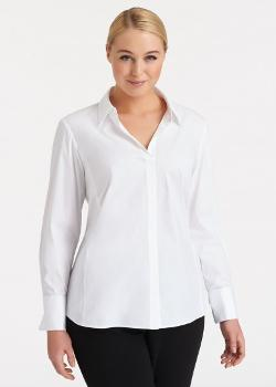 Lafayette 148 New York - Plus-size Italian Stretch Cotton Chiara Blouse