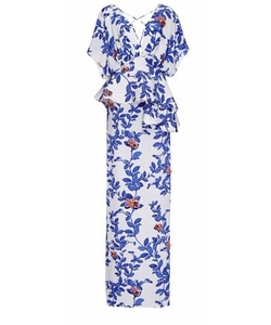 Johanna Ortiz -  Silk Bluebell Embellished Maxi Dress