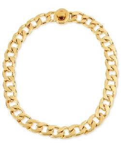 Bar III  - Tone Double Chain Link Necklace