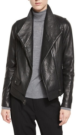 Vince - Leather Asymmetric Moto Jacket