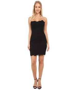 Nicole Miller - Lace Strapless Dress