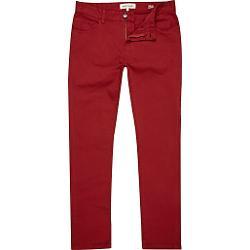 River Island - Red Sid Stretch Skinny Jeans