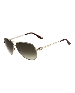 Salvatore Ferragamo  - Gradient Aviator Sunglasses