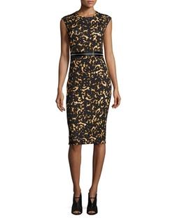 McQ Alexander McQueen   - Printed Bodycon Zip Dress