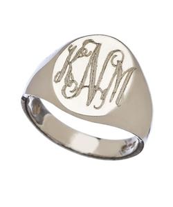 Sarah Chloe  - Lana Oval Signet Ring