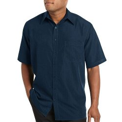 Harbor Bay - Microfiber Casual Button-Down Shirt