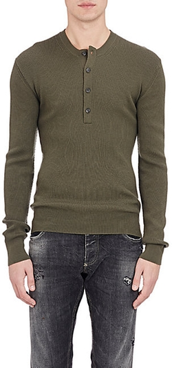 Dolce & Gabbana - Ribbed Henley Shirt