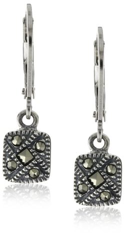 Judith Jack - Marcasite Square Drop Earrings